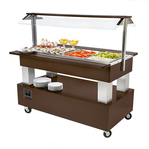 Buffet salad'bars 4 x GN 1/1 bain-marie